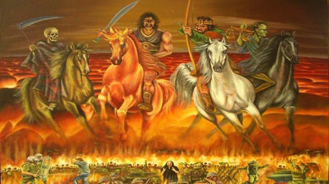 Aparecen tres supuestos Jinetes del Apocalipsis en el cielo.